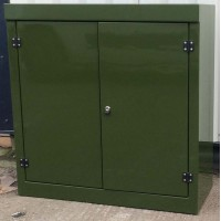 K3 GRP double door Kiosk - 1260mm x 1215mm x 520mm